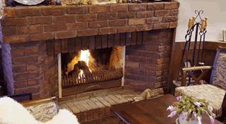 暖炉 写真